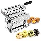 PAGILO Nudelmaschine mit 9 Stufen für Spaghetti, Tagliatelle, Fettuccine und Lasagne - für frische, hausgemachte Pasta