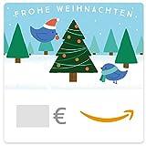 Digitaler Amazon.de Gutschein (Vögel und Weihnachtsbaum)