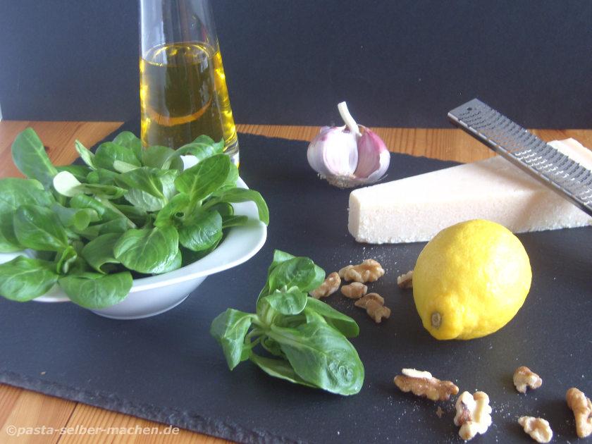 Feldsalat Pesto Zutaten