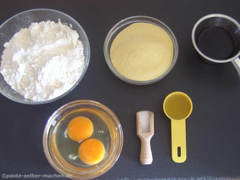 Zutaten für Rote Bete Pasta